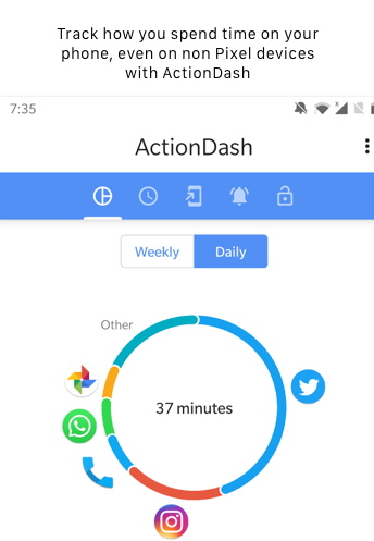 ActionDash Tracks Time in Android Phone.png