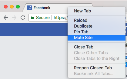 Google Chrome Mute
